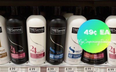 TRESemme Shampoo or Conditioner 49¢  at Publix