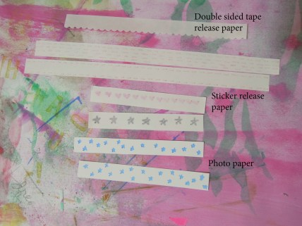 """Patterned paper strips diy from """"rubbish"""""""
