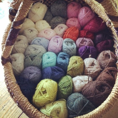 Basket of Wool | MyCraftyMusings