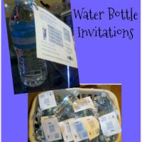 DIY Water Bottle Invitations