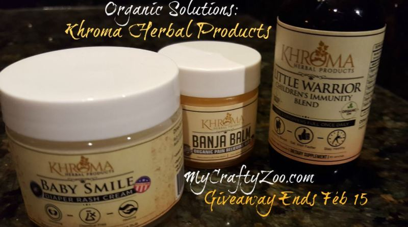 Khroma Herbal Products Giveaway Ends Feb 15