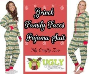 Grinch Pajama Suit: Christmas Jammies @uglyxmas @CraftyZoo