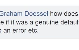 Fiona's Question to Graham Doessel - How Can A Genuine Default Get Removed