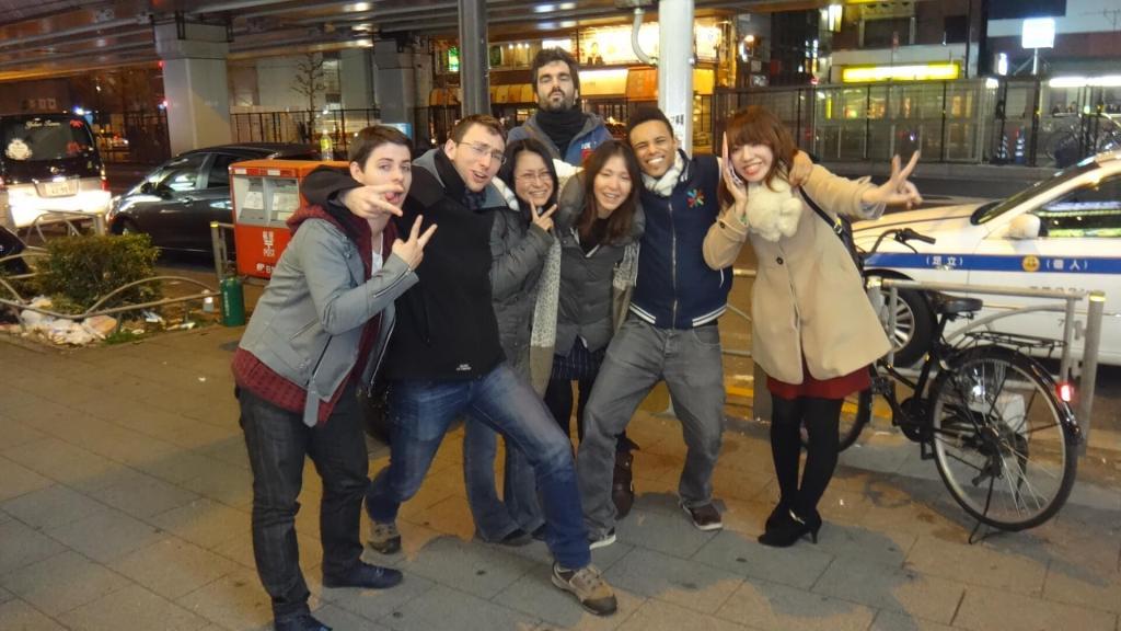 À Shibuya, Tokyo, après la boite de nuit avec des Japonais rencontrés en sortant !
