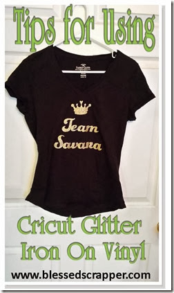 Team T Shirt Made With Cricut Iron On Glitter Vinyl And