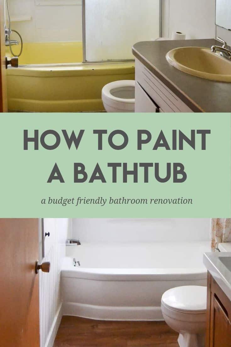 how to paint a bathtub easily