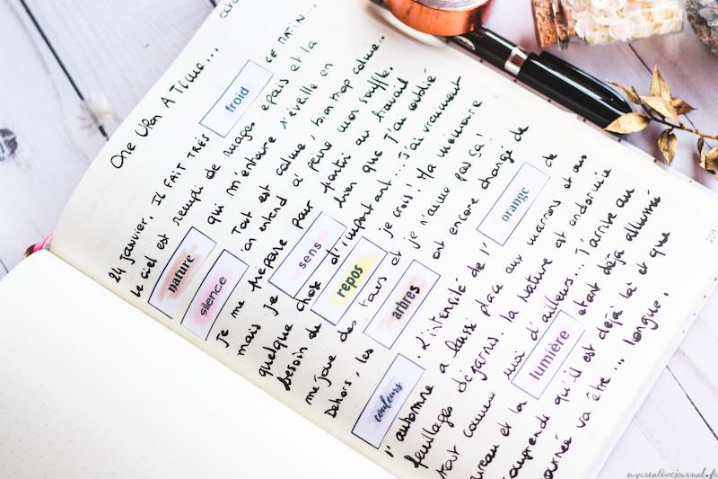 exercice ecriture bullet journal