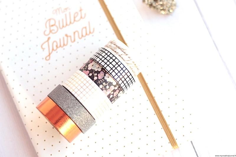 comment utiliser le masking tape dans un bullet journal