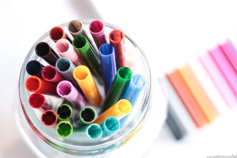 crayola supertips feutres creative journal