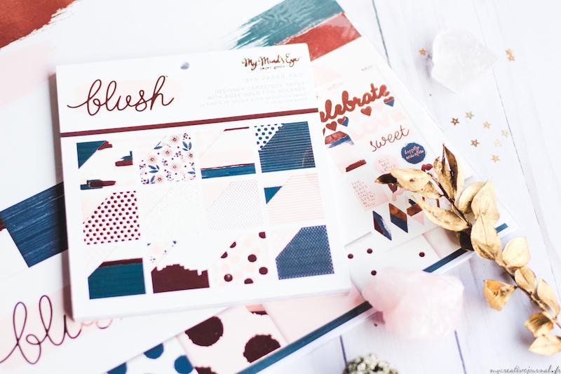papier scrap cuivre my minds eye blush carnet