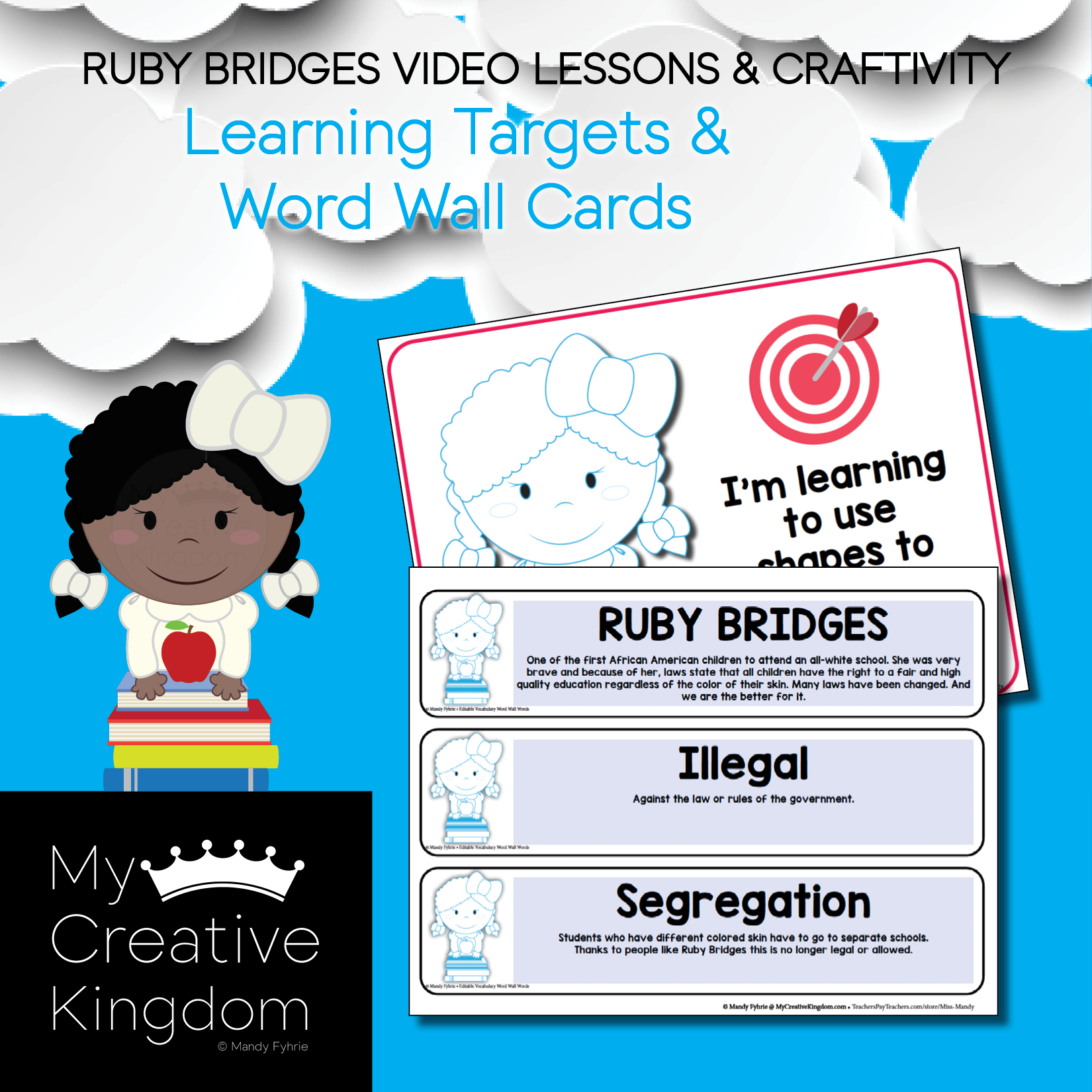 Ruby Bridges Black History Craftivity Amp Lesson Videos For
