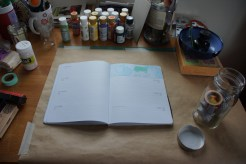 Art journal process 1