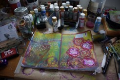 Art journal process 8