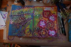 Art journal process - finished