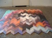 Frames on floor