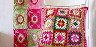 Pretty Granny Square Cushion 2020