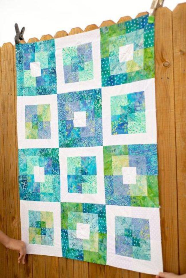 Square in square quilt block tutorial using a jelly roll