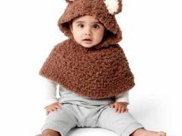 Bear Cub Crochet Poncho - BEST Patterns 2020