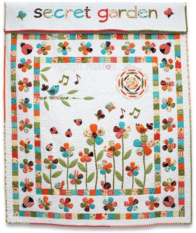 Secret Garden Trapunto Quilt Free Pattern by Joanne
