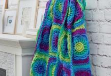 Crochet Red Heart Floral Beauty Thrown Free Pattern 2020