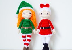 3 Knitting Designs of Elf Crochet Pattern Two Crochet Patterns In English Edna The Elf Doll And Mrs Etsy