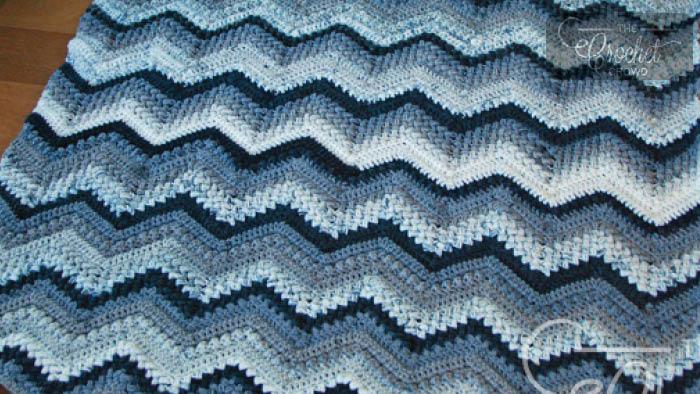 A Chevron Crochet Blanket Basic Guide Crochet Beans Bobbles Chevron Afghan Tutorial The Crochet Crowd