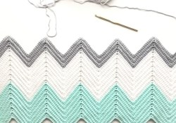 A Chevron Crochet Blanket Basic Guide Crochet Chevron Blanket In Mint Dove And White Daisy Farm Crafts