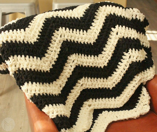 A Chevron Crochet Blanket Basic Guide Easy Crochet Chevron Blanket Tutorial
