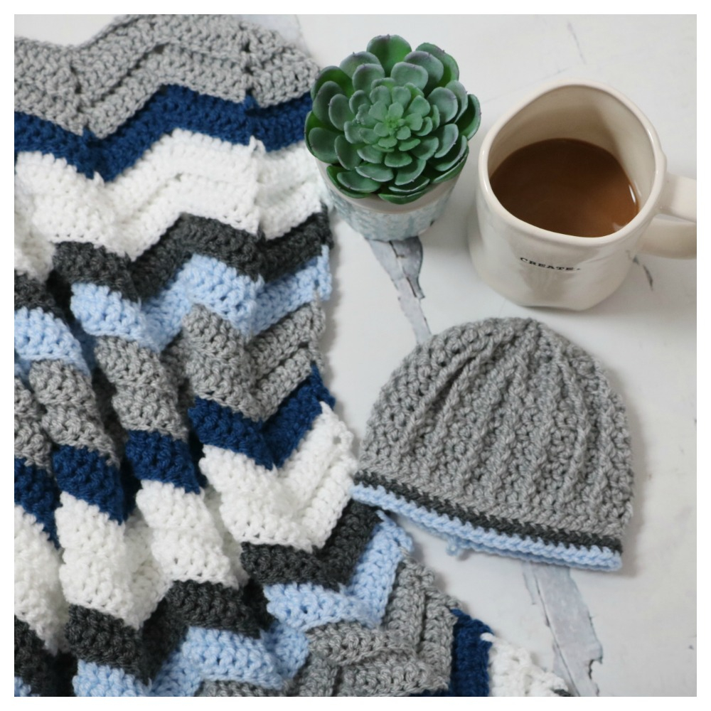 Basic & Standard Patterns for Boy Blanket Crochet Ba High Tops Set With Free Chevron Stitch Blanket Pattern Mjs