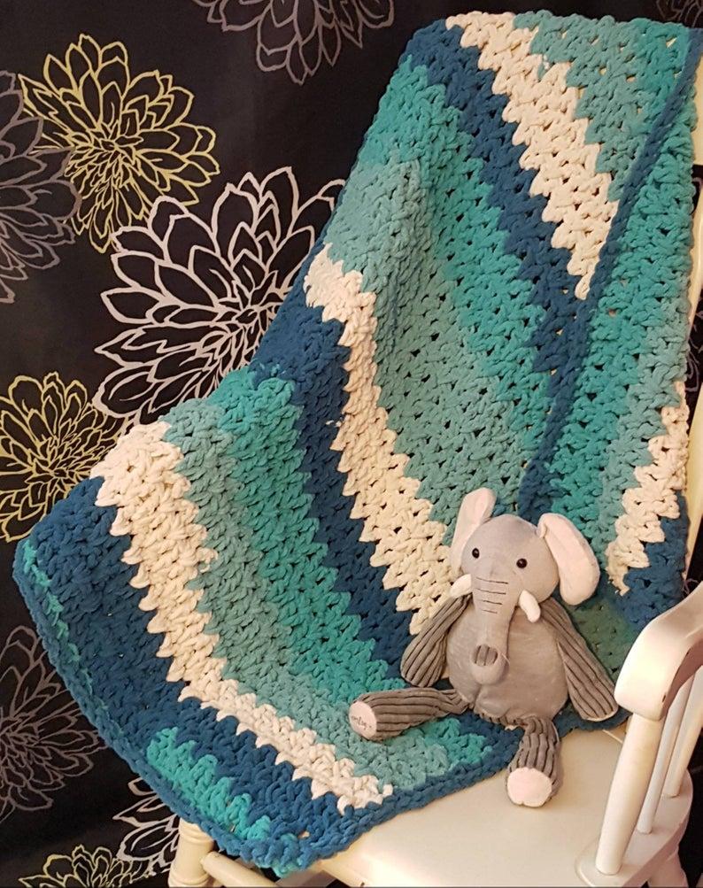 Basic & Standard Patterns for Boy Blanket Crochet Teal Andturquoise Handmade Crochet Ba Boys Blanket Crochet Etsy