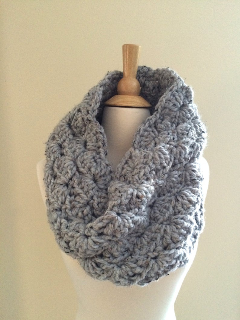 Best Products to Make with the Chunky Yarn Crochet Pattern Diy Crochet Pattern Sophie Cowl Super Bulky Lacy Infinity Scarf Easy Crochet P D F Chunky Yarn Instant Download
