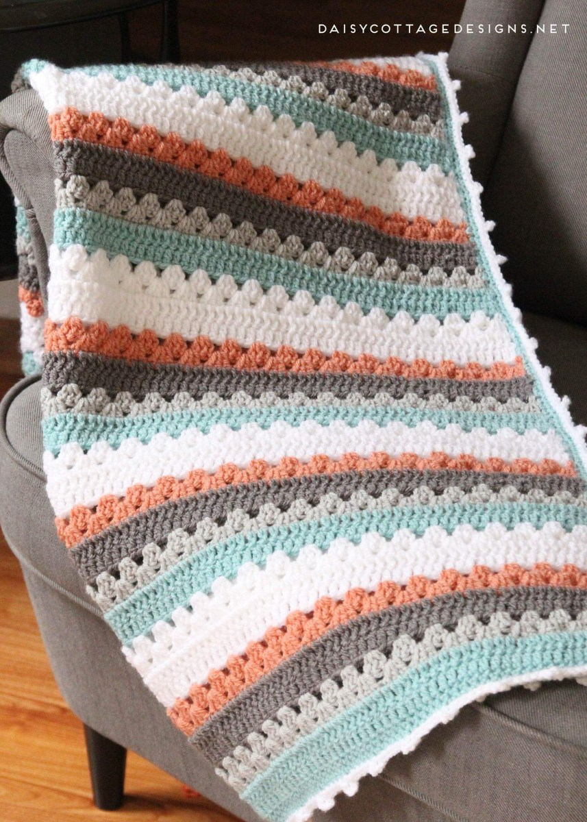 Blanket Crochet Pattern Free to Get You Warmer at Night Granny Square Pattern A Free Crochet Pattern