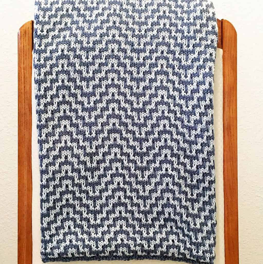 Chevron Knitting Pattern Ba Blanket Chevron Pdf Knitting Pattern Laws Of Knitting