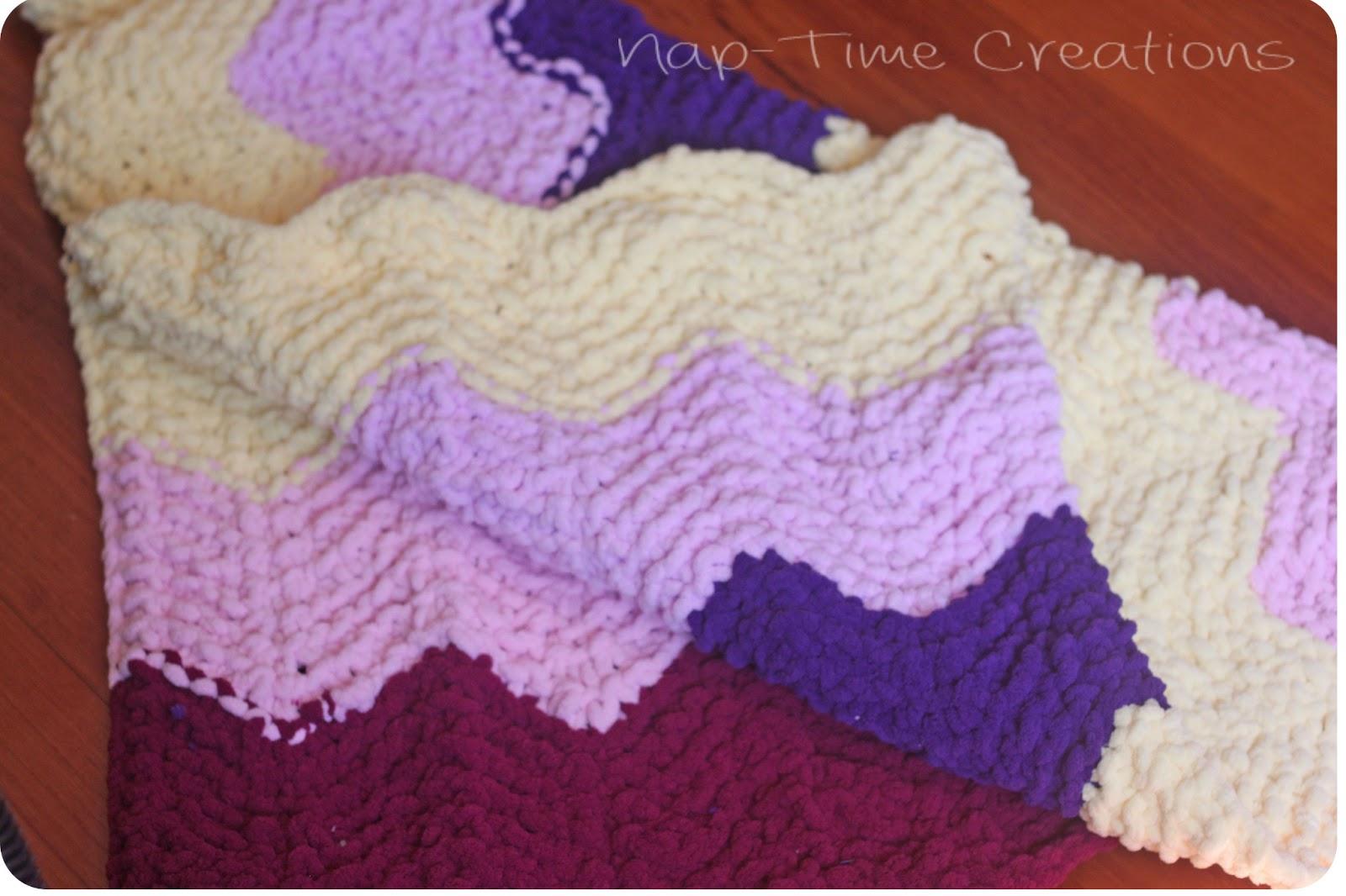 Chevron Knitting Pattern Chevron Ba Blanket Free Knitting Pattern Life Sew Savory