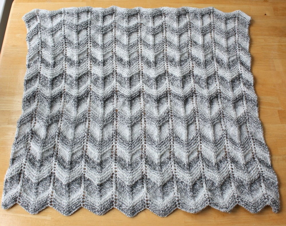 Chevron Knitting Pattern Knit Pattern Ba Blanket Pattern Easy Ripple Chevron On Luulla