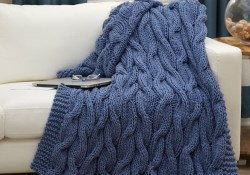 Crochet And Knitting Patterns Solid Colored Throws To Crochet And Knit Red Heart