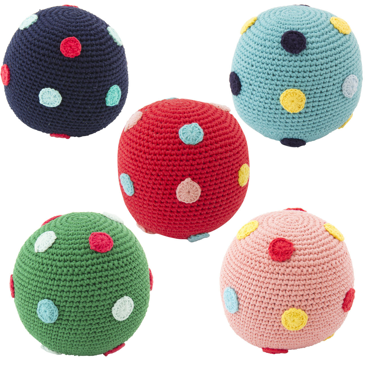 Crochet Ball Pattern Crochet Ball Large Dots With Rattle Global Affairs