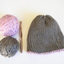 Crochet Beanie Pattern A Free Knit Look Double Brim Crochet Beanie Pattern