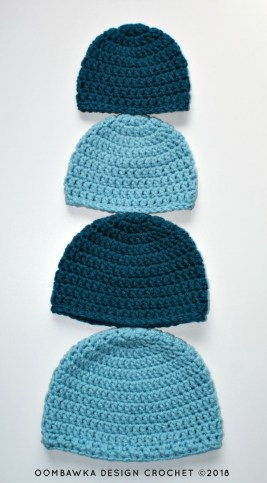 Crochet Beanie Pattern Simple Double Crochet Hat Pattern Oombawka Design Crochet