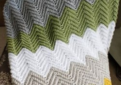 Crochet Blanket Chevrons Wonders Chevron Crochet Blanket Pattern Crochet Pinterest