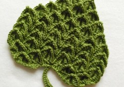 Crochet Leaf Pattern Crocodile Stitch Heart Or Leaf Free Crochet Pattern Grdina Cu