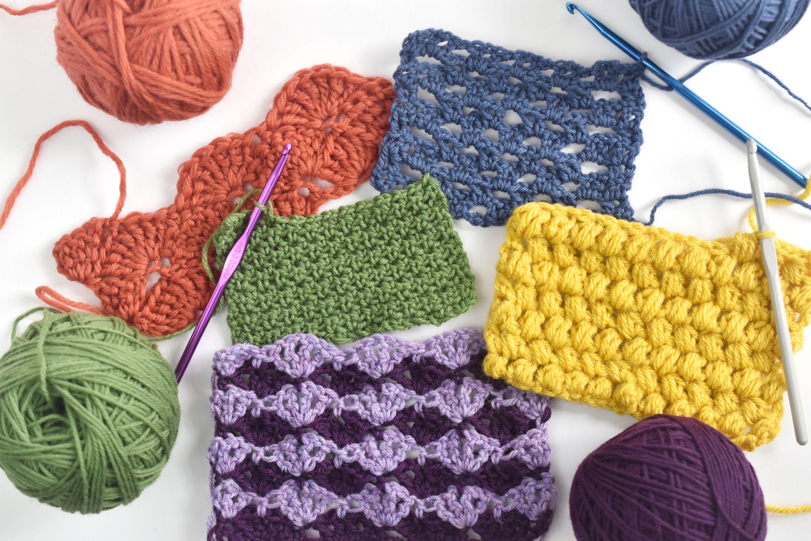 Crochet Stitch Pattern  10 Most Popular Crochet Stitches