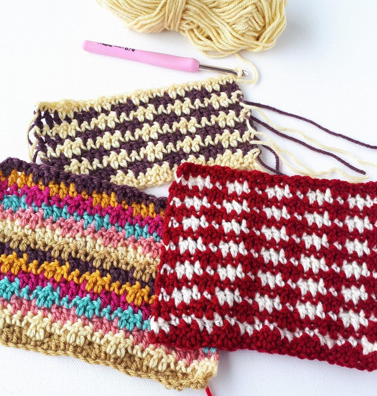 Crochet Stitch Pattern  Double Grit Stitch Crochet Tutorial Free Pattern Annie Design