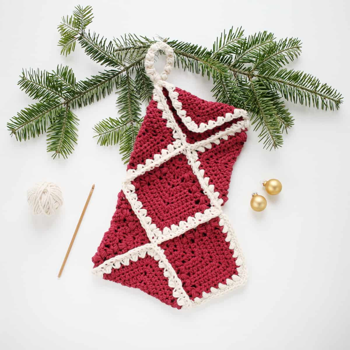 Crochet Stocking Pattern  Flutter Crochet Christmas Stocking Crochet Life