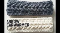 Ear Warmers Crochet Pattern How To Crochet The Arrow Earwarmer Arrow Earwarmer Crochet