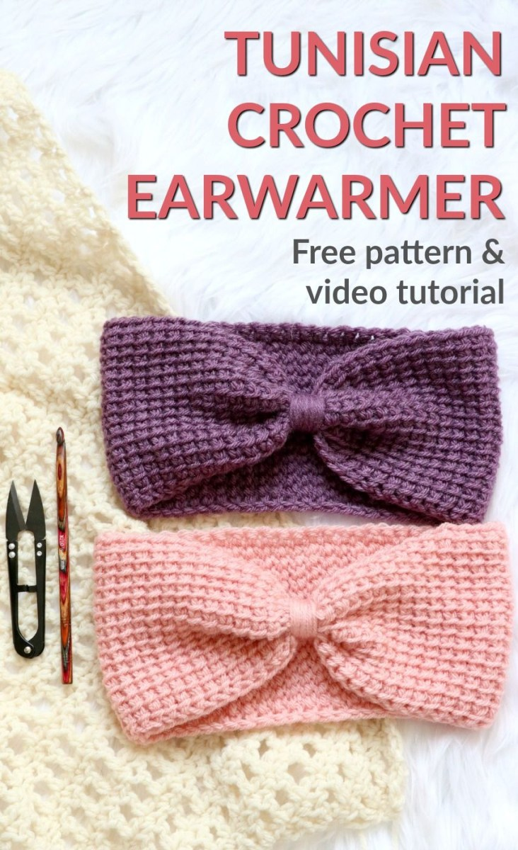 Ear Warmers Crochet Pattern Make The Simple Tunisian Earwarmer Free Pattern And Video Tutorial