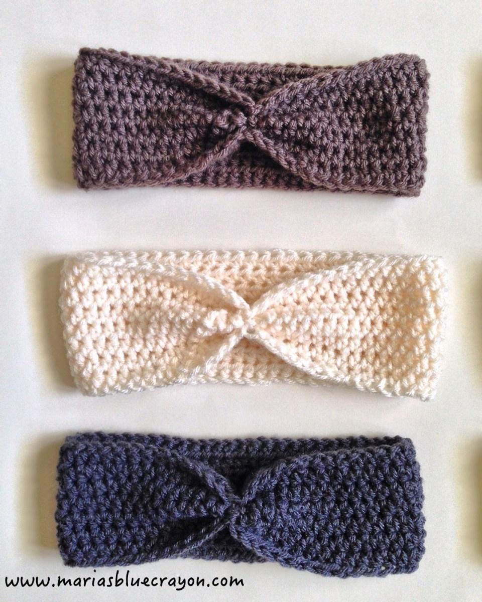 Ear Warmers Crochet Pattern Simple Crochet Ear Warmer Free Pattern For Beginners Marias Blue