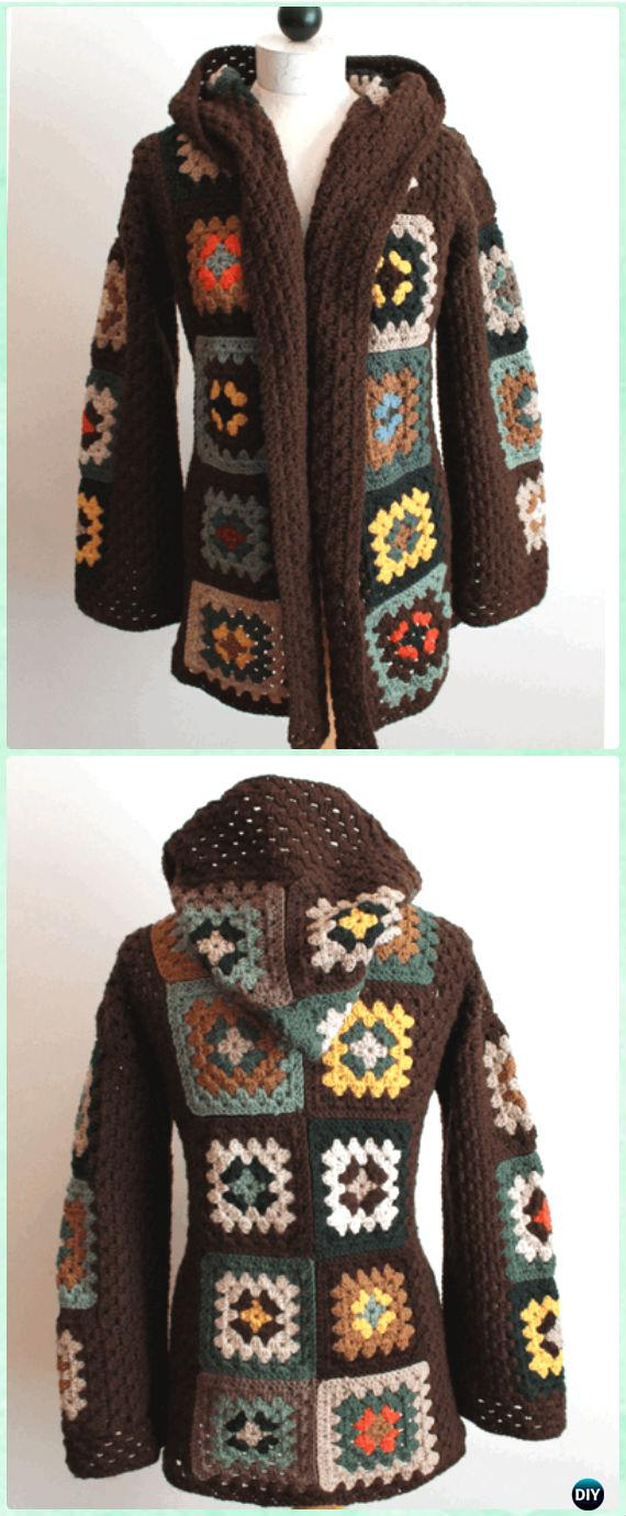 Free Crochet Jacket Pattern Designs for All Seasons Crochet Granny Square Jacket Cardigan Free Patterns