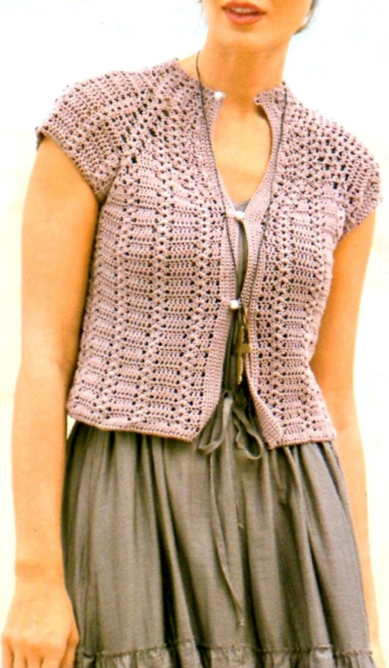 Free Crochet Jacket Pattern Designs for All Seasons Crochet Jacket Pattern Casual Jacket Pattern Crochet Top Pattern