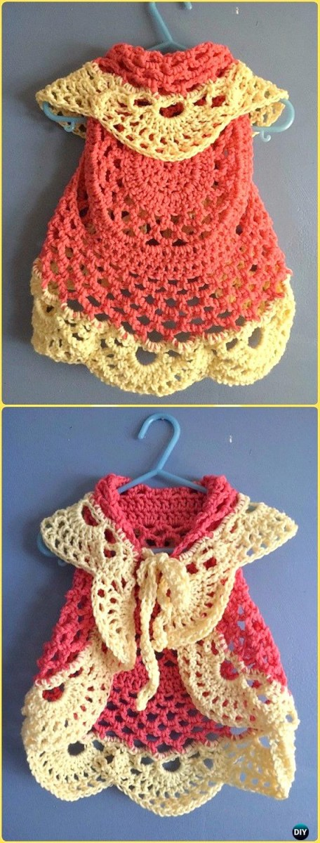 Free Crochet Jacket Pattern Designs for All Seasons Crochet Little Girl Circle Vest Sweater Coat Free Patterns